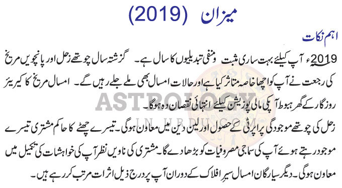 Libra Horoscope In Urdu 2019 Horoscope In Urdu 2019 Urdu Horoscope