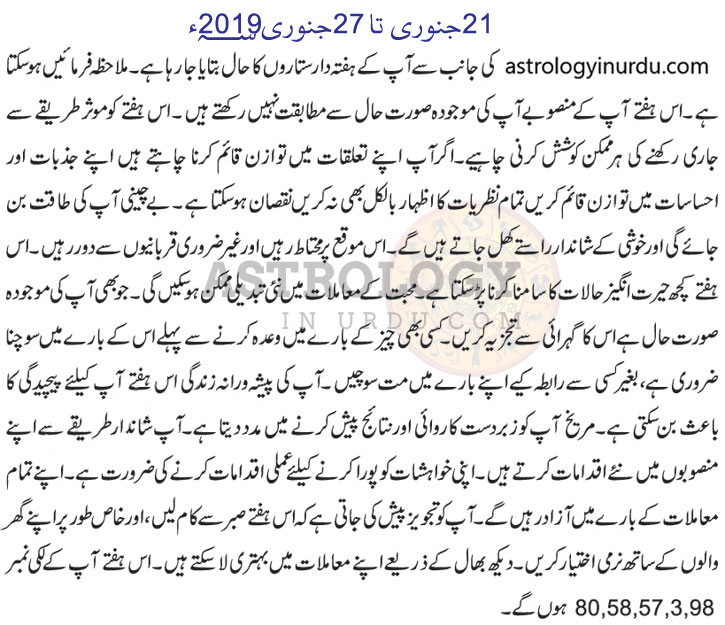 Gemini Weekly Horoscope In Urdu Urdu Horoscope 2019